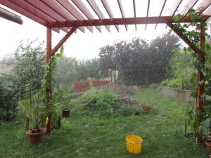 esik, esik, a vödör a csapadék mérő eszköz :)